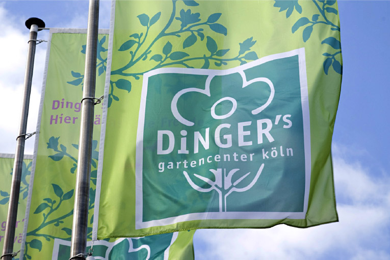 Dinger's Gartencenter – Corporate Design