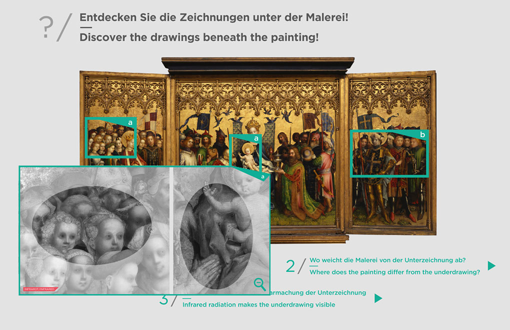 Wallraf-Richartz-Museum, Bildschirmpräsentation